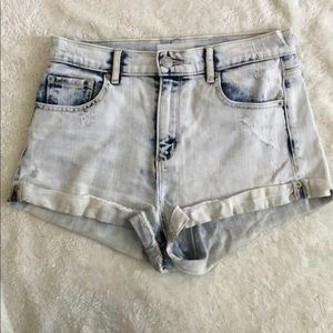 Garage acid wash shorts retro high waist size 5